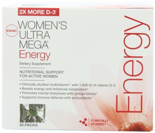 Ultra Mega Energy Vitapak de la mujer GNC 30 paquetes