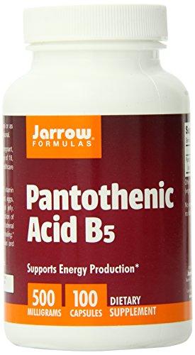 Jarrow Formulas ácido pantoténico, B5, 500 mg, 100 cápsulas de (Pack de 12)