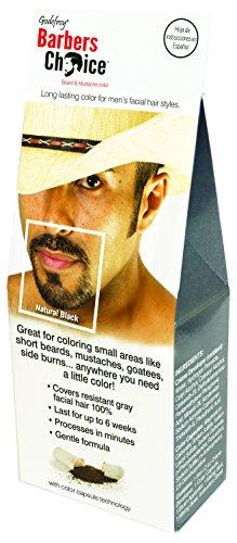Godefroy barberos opción barba y bigote Color individuales, negro Natural