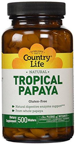 País vida Papaya masticable tabletas tableta 500