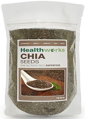 HealthWorks pesticidas y semillas de Chia sin productos químicos, 32 onzas