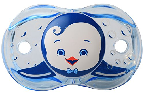 Chupete RaZbaby Keep-It-Kleen, Ethan Penguin, 0-36 meses