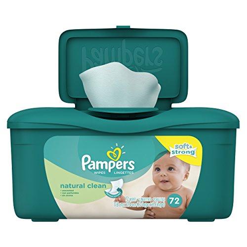 Pampers Baby Clean toallitas Natural tina 72 count (paquete de 8)