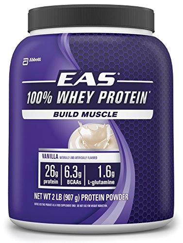 EAS 100% Whey Protein, vainilla, 2 libras, 23 porciones