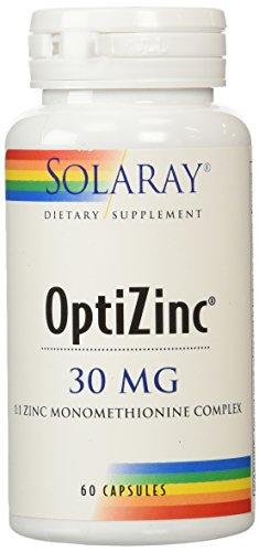 Suplemento de Solaray Optizinc, 30 mg, 60 Count