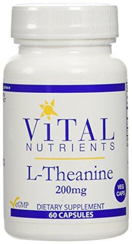 Suplemento de L-teanina de nutrientes vitales, 200 mg, 60 cuenta