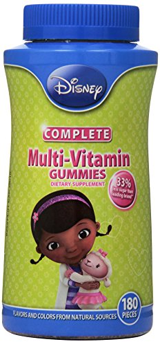 Disney Doc McStuffins Complete multi-vitamina gomitas, cuenta 180