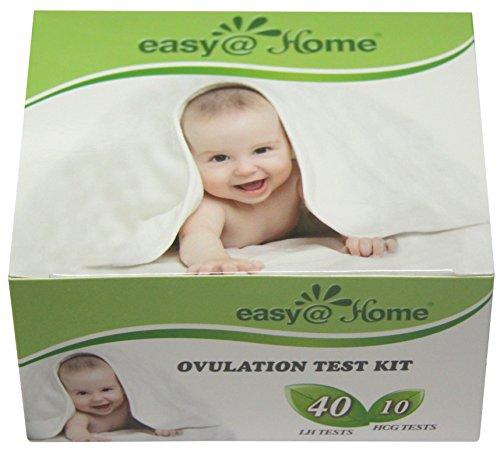 Easy@Home marca Combo 40 la ovulación (LH) y Kit de tiras de pruebas de embarazo (HCG) 10
