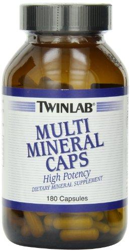 Twinlab Multi Mineral Caps, 180 cápsulas (paquete de 2)