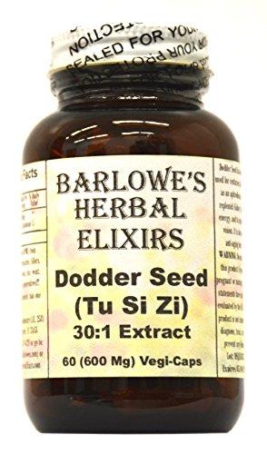 Dodder la semilla extracto 30: 1 (Tu Si Zi) - mg 60 600 VegiCaps - estearato gratis, embotellado en vidrio