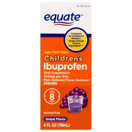equate infantil suspensión de ibuprofeno uva Analgésico de 4 onzas