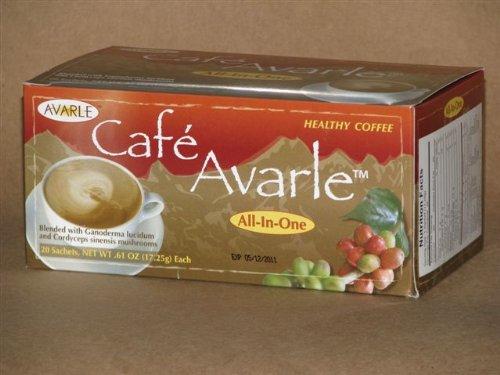 Todo-en-uno café saludable con Ganoderma y myselia. 1 caja de crema, azúcar y xilitol (20 Pks Ea)
