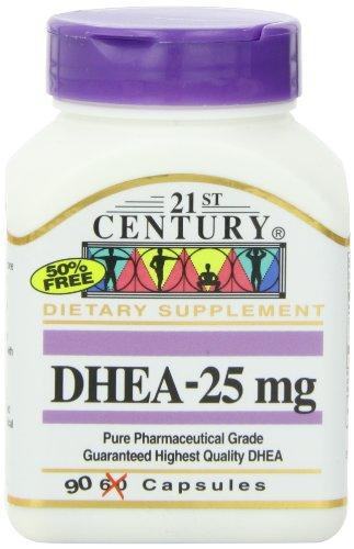 siglo XXI DHEA 25 mg cápsulas, cuenta 90
