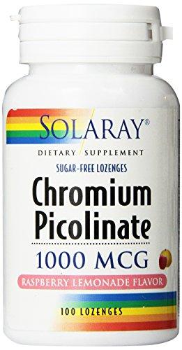 Solaray cromo picolinato pastillas 1000mcg, cuenta 100