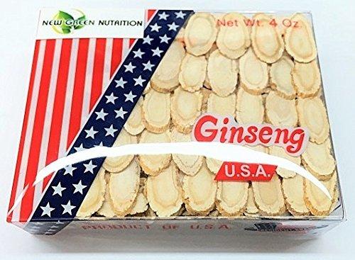 Seleccionado a mano A grado Ginseng americano rebanada mediana (caja de 4 oz.)