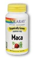 Solaray cultivadas orgánicamente suplemento de raíz de Maca, 500 mg, 100 cuenta