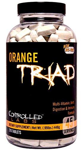 Controlado por laboratorios tríada naranja: multivitamínico, articulaciones, digestión e inmune, 270-Conde botella