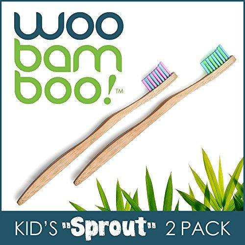 Brotes cepillo dental WooBamboo 2-Pack infantil Super suave