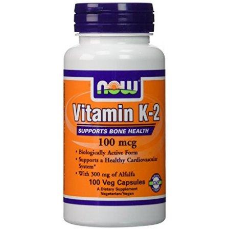 NOW Alimentos La vitamina K-2 100 mcg 100 cápsulas vegetales