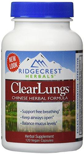 RidgeCrestHerbals ClearLungs 120 cápsulas
