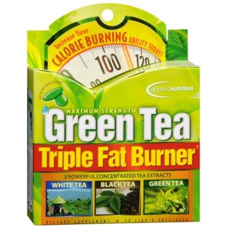 APPLIED NUTRITION Green Tea Fat Burner triples Liquid Cápsulas Blandas de 30 geles suaves (Pack de 3)