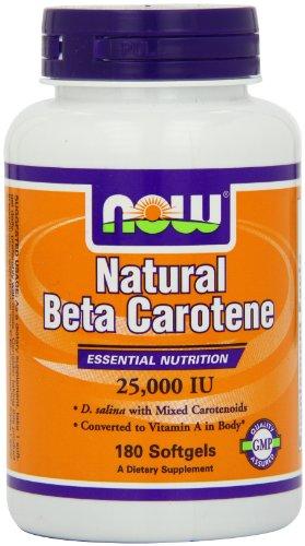 Ahora alimentos Nat betacaroteno 25000, Soft-Gel, 180-Conde