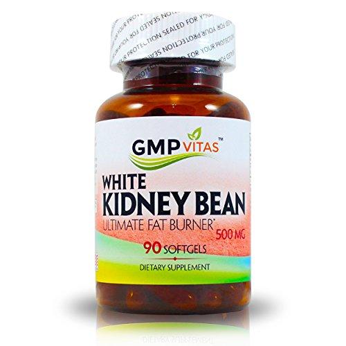 GMPVitas blanco haba de riñón - 1000mg de Natural suplemento/blanco frijol para soporte de glucosa e intercepción de hidratos de carbono. Mejor fórmula de Control de apetito