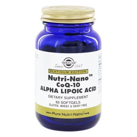 Solgar - Platinum Edition Nutri-Nano CoQ-10 El ácido alfa lipoico - 60 Cápsulas Blandas