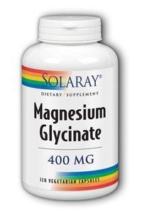 Suplemento glicinato de magnesio Solaray, 400 mg, 120 cuenta