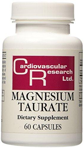 Investigación cardiovascular magnesio cápsulas Taurate, cuenta 60