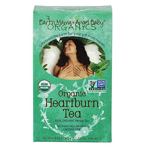 Rescate natural tierra Mama Angel bebé orgánicos acidez estomacal té no GMO para acidez estomacal embarazo y mucho tiempo después de 16 bolsitas de té/caja (pack de 3)