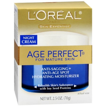 Dermo-Expertise Age Perfect para adultos Skin Cream Noche 250 oz (Pack de 3)