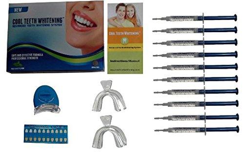 Hoja de instrucciones (1) - (1) LED acelerador luz - bandejas (2) - (1) guía - - en productos de blanqueador de dientes casero del Gel fresco blanqueamiento dental Kit (10) jeringas de peróxido de carbamida 44