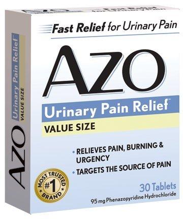 Dolor urinario estándar AZO alivio tabletas, cajas 30-count (paquete de 3)