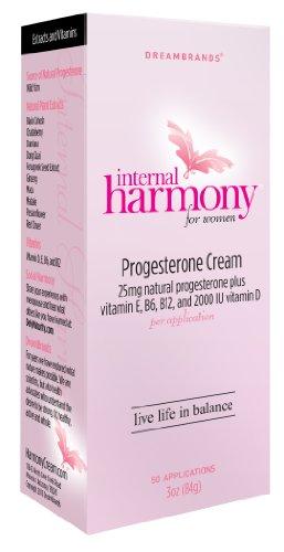 Sueño de la crema de progesterona marcas armonía interna, 3 onzas