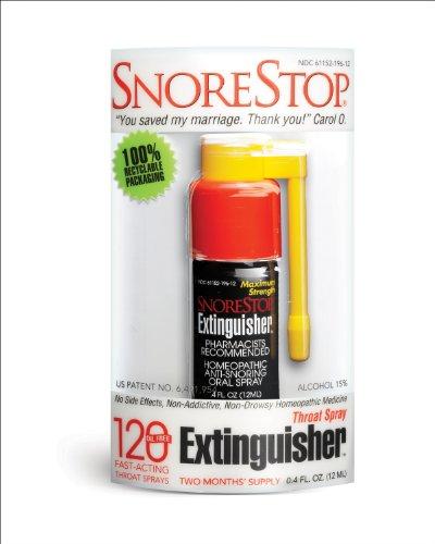 SnoreStop extinguidor Spray de garganta, 120 Sprays, 0,6 Oz.