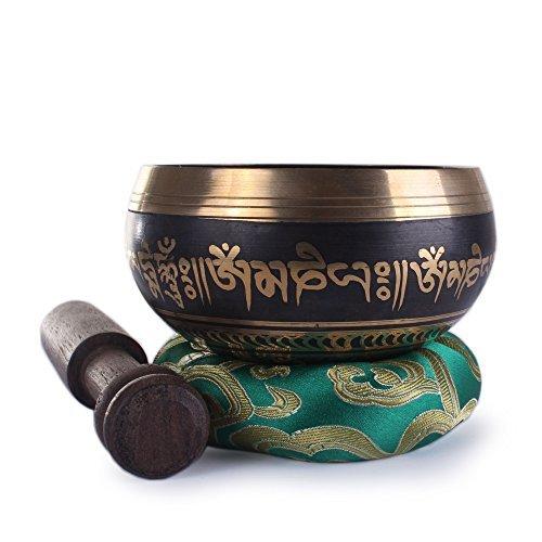 Mente silenciosa ~ tibetanos cantando Bowl Set ~ Om Mani Padme Hum ~ meditación bono eBook ~ regalo perfecto