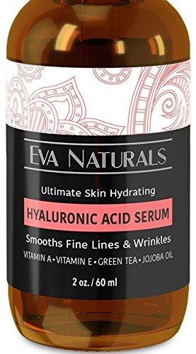 Suero de ácido hialurónico por Eva naturales, hidratante ácido hialurónico para la cara