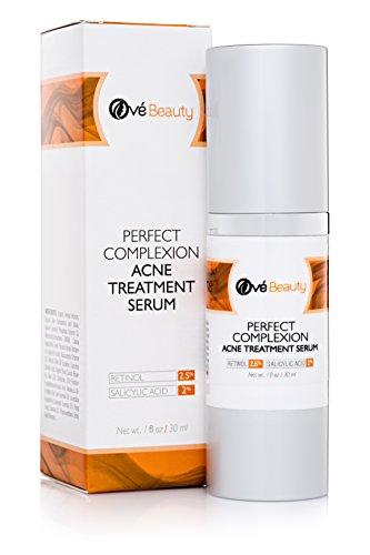 Mejor tratamiento del acné para los hombres y las mujeres con Retinol 2.5%, ácido salicílico 2%, niacinamida 3,5%, vitamina C 20% y el claro de la piel 5% de ácido hialurónico, Anti envejecimiento y Control del defecto