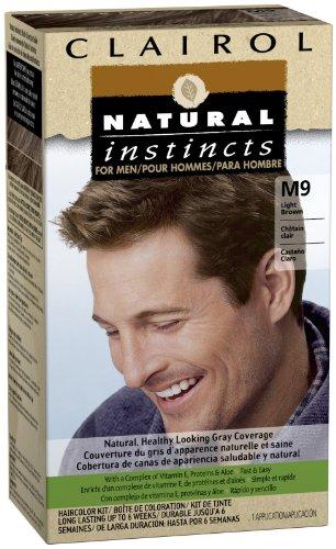 Instintos naturales de Clairol para Color de cabello de los hombres, luz marrón (M9)