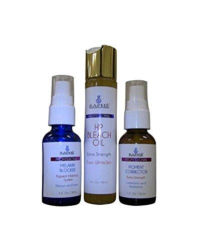 Pigmento natural corrigiendo Gel 30ml + melanina bloqueador suero 30ml cada uno y la alta potencia blanquear aceite 60ml.