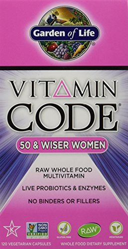 Jardín de la vida - vitamina código fórmula cruda 50 y la más sabia de las mujeres Multi - 120 cápsulas vegetarianas