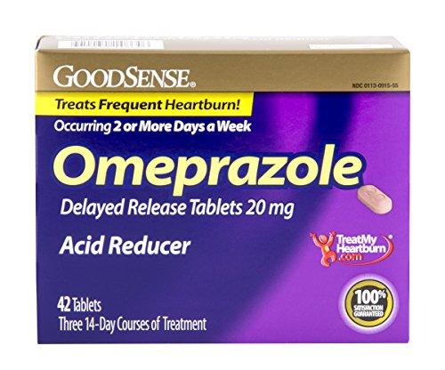 GoodSense omeprazol retrasa lanzamiento, reductor de ácido tabletas 20 mg, 42 cuenta