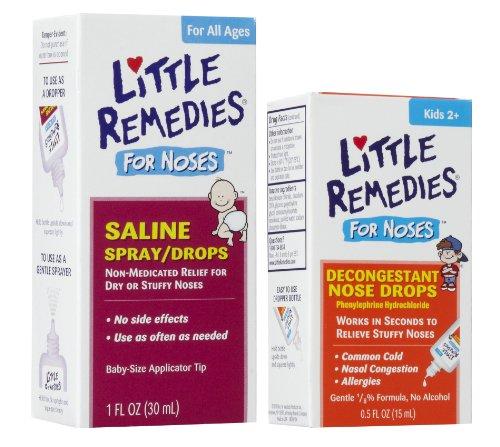 Poco remedios gotas de aerosol de solución salina para la nariz tapada con gotas descongestivas