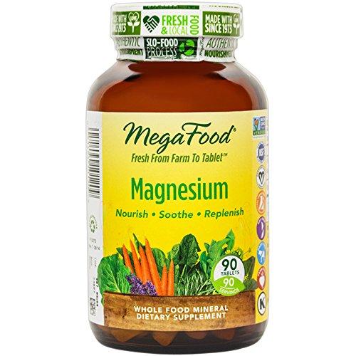 MegaFood - magnesio, apoya la salud del corazón y sistema nervioso, 90 tabletas (envasado de alta calidad)