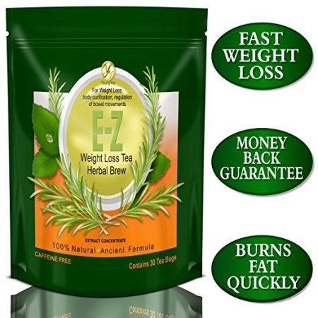 EZ Detox dieta del té- quemador de grasa. Supresor de apetito. Pérdida de peso rápida y limpiar el cuerpo