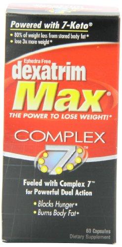 Dexatrim Max Complex 7 quemador grasa/hambre bloqueador casquillos, 60 ct