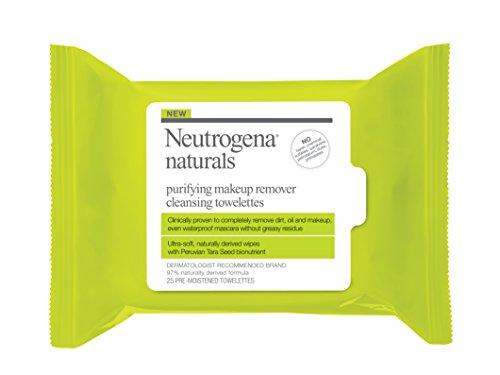 25 la Neutrogena Naturals purificante toallitas de limpieza de removedor de maquillaje, cuenta