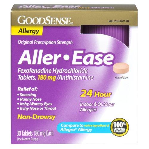 Aller-facilidad de GoodSense tabletas de clorhidrato de fexofenadina, 180 mg/antihistamínico, 30-cuenta