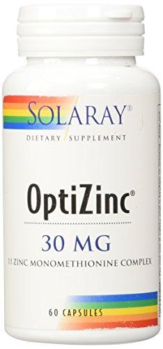 Solaray - Optizinc, 30 mg, 60 cápsulas